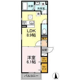 パラドックス2階Fの間取り画像