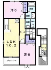 コルティーレ2階Fの間取り画像
