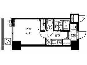レジディア文京本郷II4階Fの間取り画像