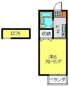 グランパレス横田2階Fの間取り画像