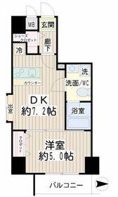 コルティーレ武蔵小杉6階Fの間取り画像