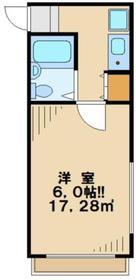 ブルーグレイス高幡不動2階Fの間取り画像