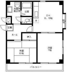 武蔵中原駅 徒歩10分1階Fの間取り画像