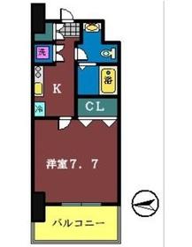 Humanハイム船橋10階Fの間取り画像