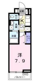 カインドハート深見台1階Fの間取り画像