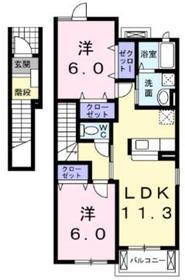 モスフロックス2階Fの間取り画像