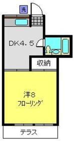 鈴木ハイツ1階Fの間取り画像