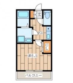エクリール1階Fの間取り画像