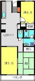 第9エルム大倉山7階Fの間取り画像