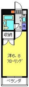 セラ・ヴィ田中2階Fの間取り画像