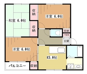 ラ・カンナA2階Fの間取り画像