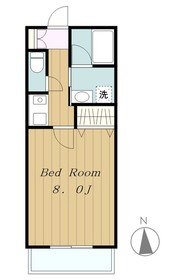 アーバングローブ2階Fの間取り画像