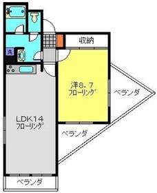 ヴィラMGII2階Fの間取り画像