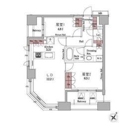 パークアクシス白金台5階Fの間取り画像