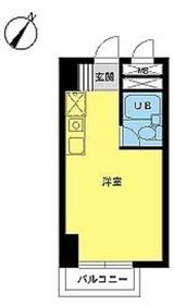 スカイコート西横浜第63階Fの間取り画像