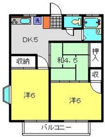 グリーンハイツヤマシゲ1階Fの間取り画像