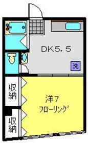 藤ビル5階Fの間取り画像