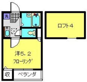 ドルフィン神之木町2階Fの間取り画像