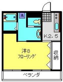 スターマンション2階Fの間取り画像