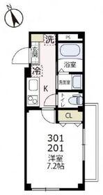 イストリア・ケー2階Fの間取り画像