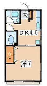 片倉町駅 徒歩15分1階Fの間取り画像