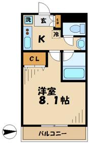 ピアホープ2階Fの間取り画像