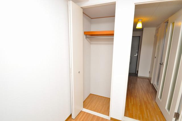 コーポラス光進 もちろん収納スペースも確保。お部屋がスッキリ片付きますね。