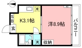 明大前駅 徒歩3分3階Fの間取り画像