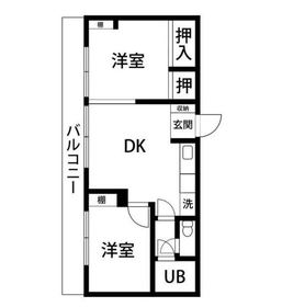 吉野町駅 徒歩1分6階Fの間取り画像