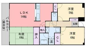 昭和コンフォルト前原6階Fの間取り画像