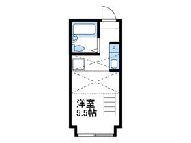 パンシオンかしわ台No.11階Fの間取り画像