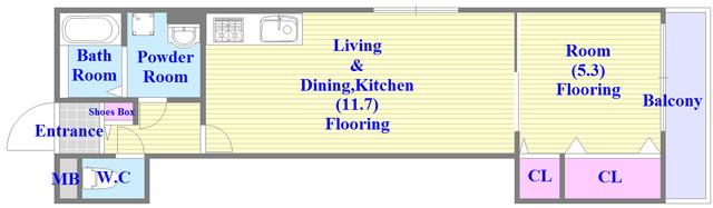 広いリビング、独立キッチンなど、使い勝手の良い間取りです。