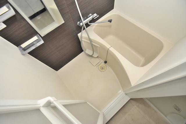 U-ro北巽 ちょうどいいサイズのお風呂です。お掃除も楽にできますよ。