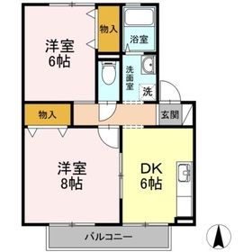 ソプラ・コート2階Fの間取り画像