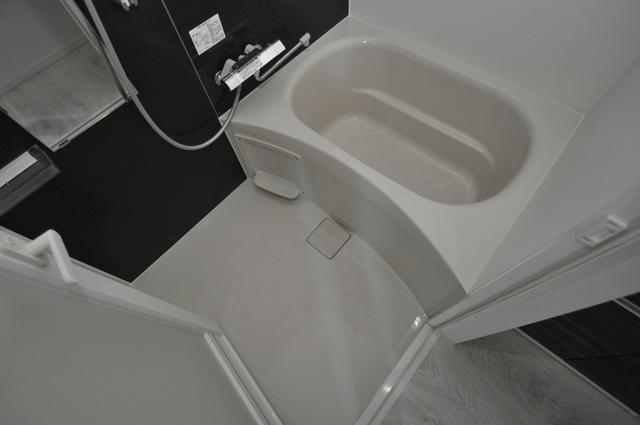 パラゴン布施駅前 ちょうどいいサイズのお風呂です。お掃除も楽にできますよ。