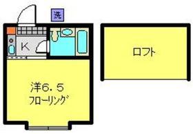 ハイム菊名1階Fの間取り画像
