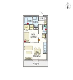 (シニア限定)ジョワ ルミエール2階Fの間取り画像