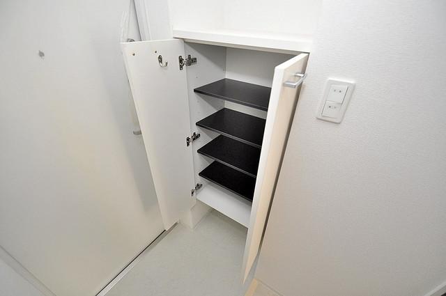 セレニテオズ北巽 明るい玄関には大きめのシューズボックスがありますよ。