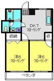 綱島駅 徒歩10分3階Fの間取り画像
