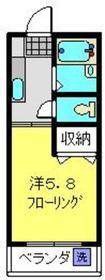 マンションかおり2階Fの間取り画像