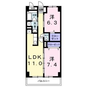 ピオニー3階Fの間取り画像