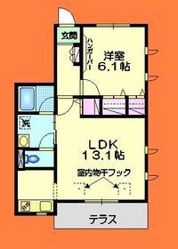 東伏見駅 徒歩13分1階Fの間取り画像