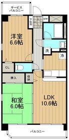 ラフィネ藤沢4階Fの間取り画像