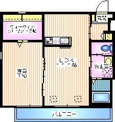 RESIDENCE 横浜上大岡1階Fの間取り画像