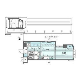 フェニックス吉祥寺アヴァンティーク地下3階Fの間取り画像