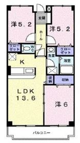 クレセント・リヴ1階Fの間取り画像
