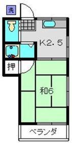 高田コーポ2階Fの間取り画像