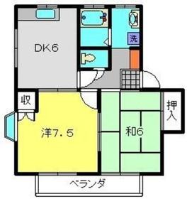 メゾフラットD1階Fの間取り画像