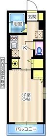 ティーエスハイム1階Fの間取り画像