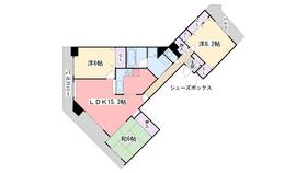 ロイヤルアーク姪浜6階Fの間取り画像